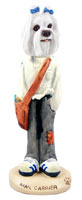 Maltese Mail Carrier Doogie Collectable Figurine