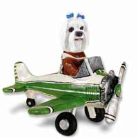 Maltese Airplane Doogie Collectable Figurine