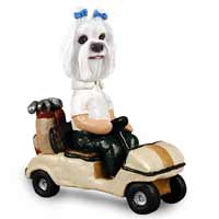 Maltese Golf Cart Doogie Collectable Figurine