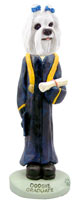 Maltese Graduate Doogie Collectable Figurine