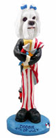 Maltese 4th of July Doogie Collectable Figurine