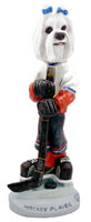 Maltese Hockey Player Doogie Collectable Figurine