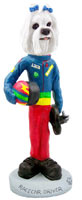 Maltese Racecar Driver Doogie Collectable Figurine
