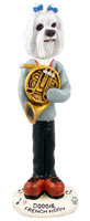 Maltese French Horn Doogie Collectable Figurine