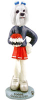 Maltese Cheerleader Doogie Collectable Figurine