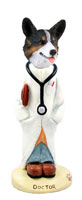 Welsh Corgi Cardigan Doctor Doogie Collectable Figurine