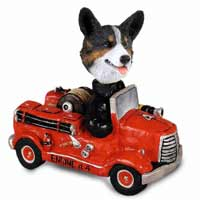 Welsh Corgi Cardigan Fire Engine Doogie Collectable Figurine