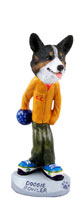 Welsh Corgi Cardigan Bowler Doogie Collectable Figurine