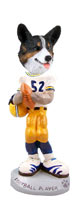 Welsh Corgi Cardigan Football Player Doogie Collectable Figurine