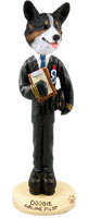 Welsh Corgi Cardigan Airline Pilot Doogie Collectable Figurine