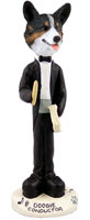Welsh Corgi Cardigan Conductor Doogie Collectable Figurine