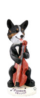 Welsh Corgi Cardigan Cellist Doogie Collectable Figurine