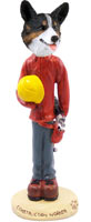 Welsh Corgi Cardigan Construction Worker Doogie Collectable Figurine