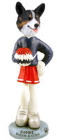 Welsh Corgi Cardigan Cheerleader Doogie Collectable Figurine