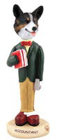 Welsh Corgi Cardigan Accountant Doogie Collectable Figurine