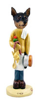 Miniature Pinscher Tan and Black Chef Doogie Collectable Figurine