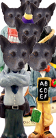 Australian Cattle, BLUE Dog Doogie Characters