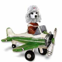 Poodle White Airplane Doogie Collectable Figurine