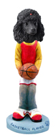 Poodle Black Basketball Doogie Collectable Figurine