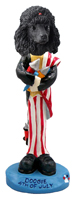 Poodle Black 4th of July Doogie Collectable Figurine
