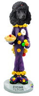 Poodle Black Clown Doogie Collectable Figurine