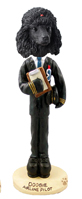 Poodle Black Airline Pilot Doogie Collectable Figurine