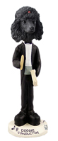 Poodle Black Conductor Doogie Collectable Figurine