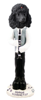 Poodle Black Clarinetist Doogie Collectable Figurine