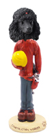 Poodle Black Construction Worker Doogie Collectable Figurine