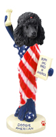 Poodle Black American Doogie Collectable Figurine
