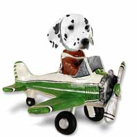 Dalmatian Airplane Doogie Collectable Figurine