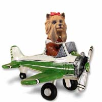 Yorkshire Terrier Airplane Doogie Collectable Figurine