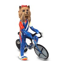 Yorkshire Terrier Bicycle Doogie Collectable Figurine