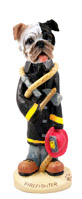 Bulldog Brindle Fireman Doogie Collectable Figurine