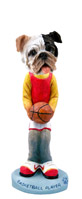 Bulldog Brindle Basketball Doogie Collectable Figurine