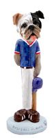 Bulldog Brindle Baseball Doogie Collectable Figurine