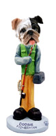 Bulldog Brindle Fisherman Doogie Collectable Figurine