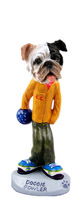 Bulldog Brindle Bowler Doogie Collectable Figurine