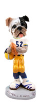 Bulldog Brindle Football Player Doogie Collectable Figurine