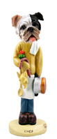 Bulldog Brindle Chef Doogie Collectable Figurine