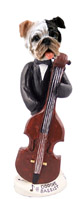 Bulldog Brindle Bassist Doogie Collectable Figurine