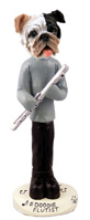 Bulldog Brindle Flutist Doogie Collectable Figurine
