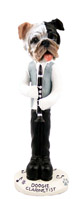 Bulldog Brindle Clarinetist Doogie Collectable Figurine