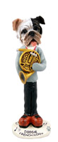 Bulldog Brindle French Horn Doogie Collectable Figurine
