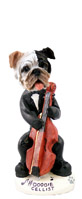 Bulldog Brindle Cellist Doogie Collectable Figurine