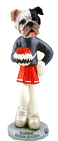 Bulldog Brindle Cheerleader Doogie Collectable Figurine