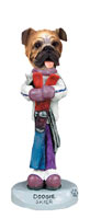 Bulldog Skier Doogie Collectable Figurine