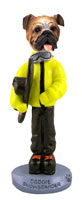 Bulldog Snowboarder Doogie Collectable Figurine