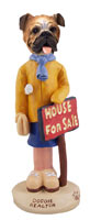 Bulldog Realtor (female) Doogie Collectable Figurine