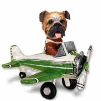 Bulldog Airplane Doogie Collectable Figurine